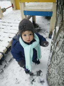 Nora in her warm winter wear!