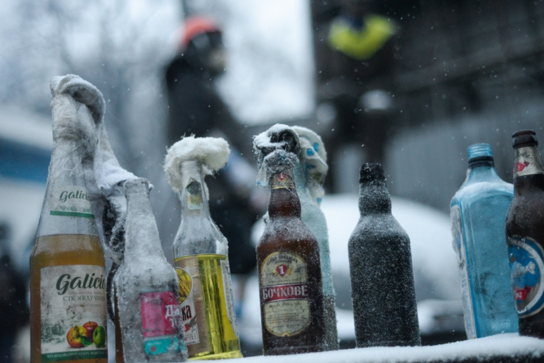 photo credit - Mstyslav Chernov -https://commons.wikimedia.org/wiki/File:Molotov_cocktails_prepared_in_advance_by_protesters._Euromaidan_Protests.jpg