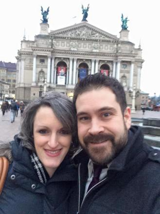 Josh and Nicole at L'viv Opera House